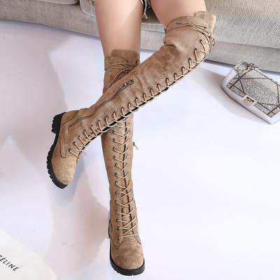 2018夏季新款马丁靴女英伦风过膝靴女长筒高筒靴骑士机车靴子女