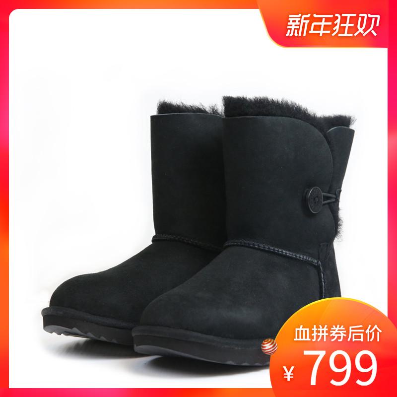 【清仓】UGG 新款时尚潮流秋冬保暖 大童鞋女士雪地靴子1017400