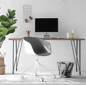 北欧设计师极简实木电脑桌创意办公桌子简约书桌工业风会议桌长桌