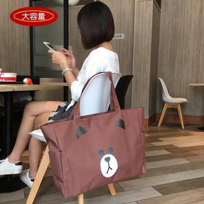 超大容量女包防水单肩手提袋帆布旅行袋环保购物袋时尚潮流健身包