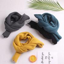 新款儿童围巾秋冬百搭婴儿围巾男童冬季毛线围巾女童柔软针织围脖