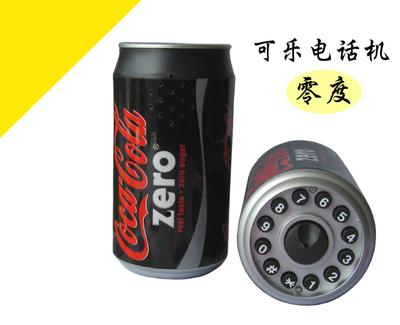 创意可乐罐电话机 百事可乐/零度可口可乐造型电话机座机固话单机