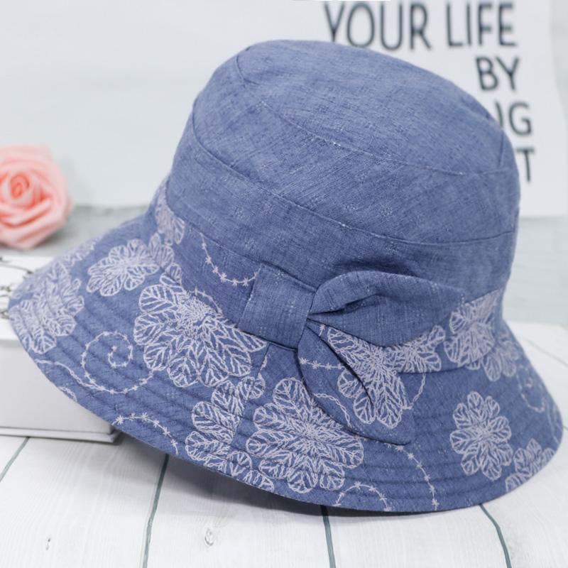 中老年人帽子女春秋天盆帽渔夫帽老人太阳帽奶奶遮阳帽女布帽妈妈