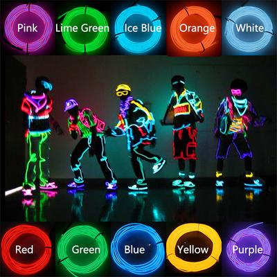 加粗舞台灯条el冷光线荧光舞led发光衣服年会表演服装激光道具