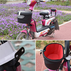 Electric bike car basket front basket folding car basket basket waterproof trailer basket electric scooter basket