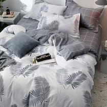 纯棉磨毛加厚四件套纯色1.5床上用品1.8m全棉床单被套1.2米三件套