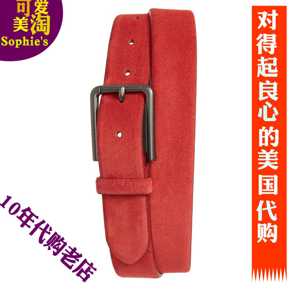 美国代购BOSS男士皮带牛皮针扣商务皮带男腰带裤带