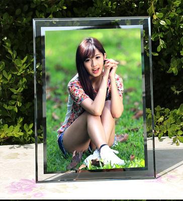 创意玻璃相框摆台透明7寸a4纸大小毕业结业授权书荣誉证书框促销