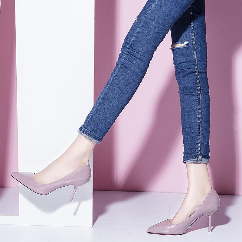 伴娘裸色单鞋