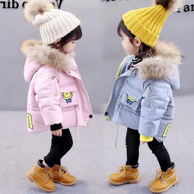 2017新款女宝宝1冬装棉袄0婴儿童3岁加厚韩版公主2冬季棉服外套潮