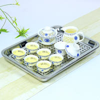 Leopard home stainless steel tea tray water tea tray simple tea table small tea set water storage drainage
