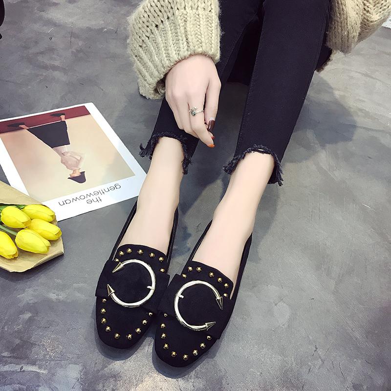 平底鞋_韩版百搭平底豆豆鞋5元优惠券