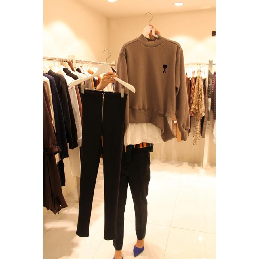 BABYPOWDER 韩国代购女装塑形拉链简洁百搭休闲裤不含其它均码