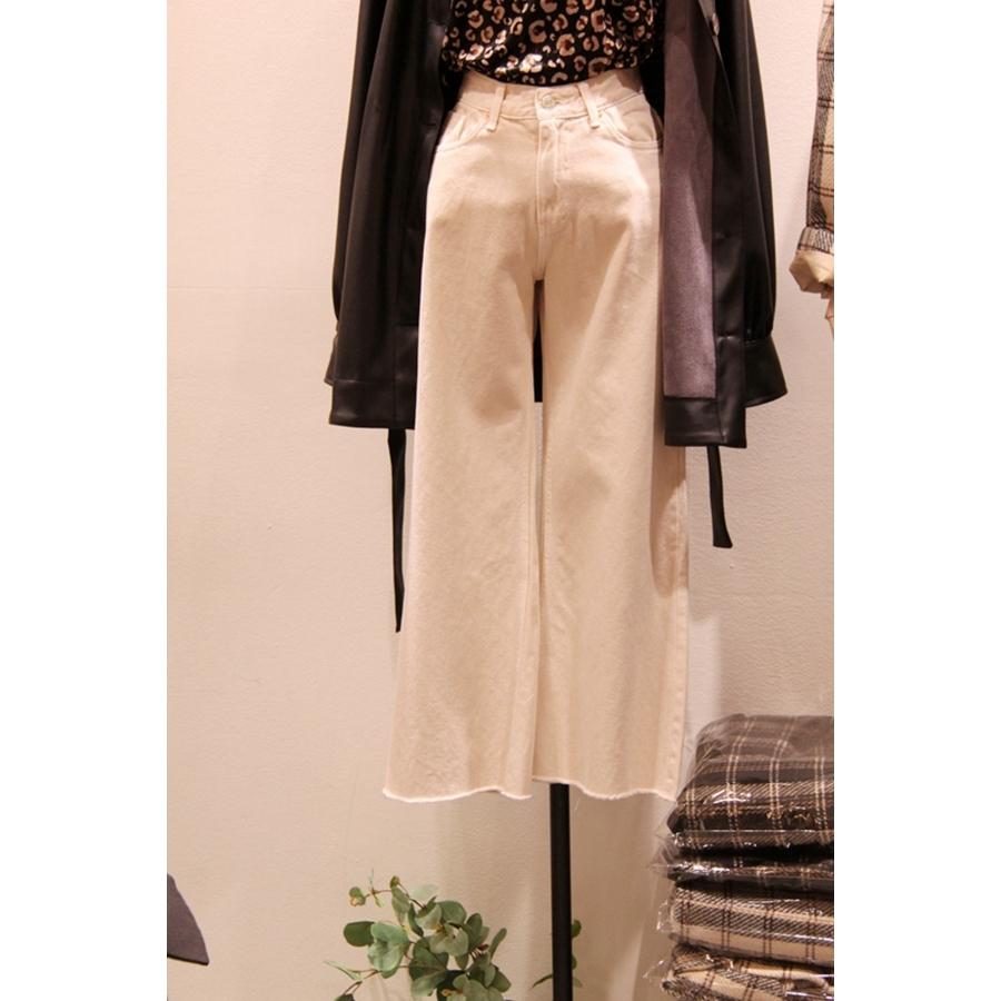 NEWJERSEY 韩国代购女装插袋毛边百搭休闲裤不含其它S/M/L码