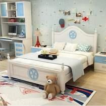 新全友家私家具旗舰店欧式地中海实木儿童床男孩女孩1.5米松木单