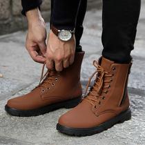 大码秋冬新款男士马丁靴头层牛皮工装鞋跨境男皮靴子
