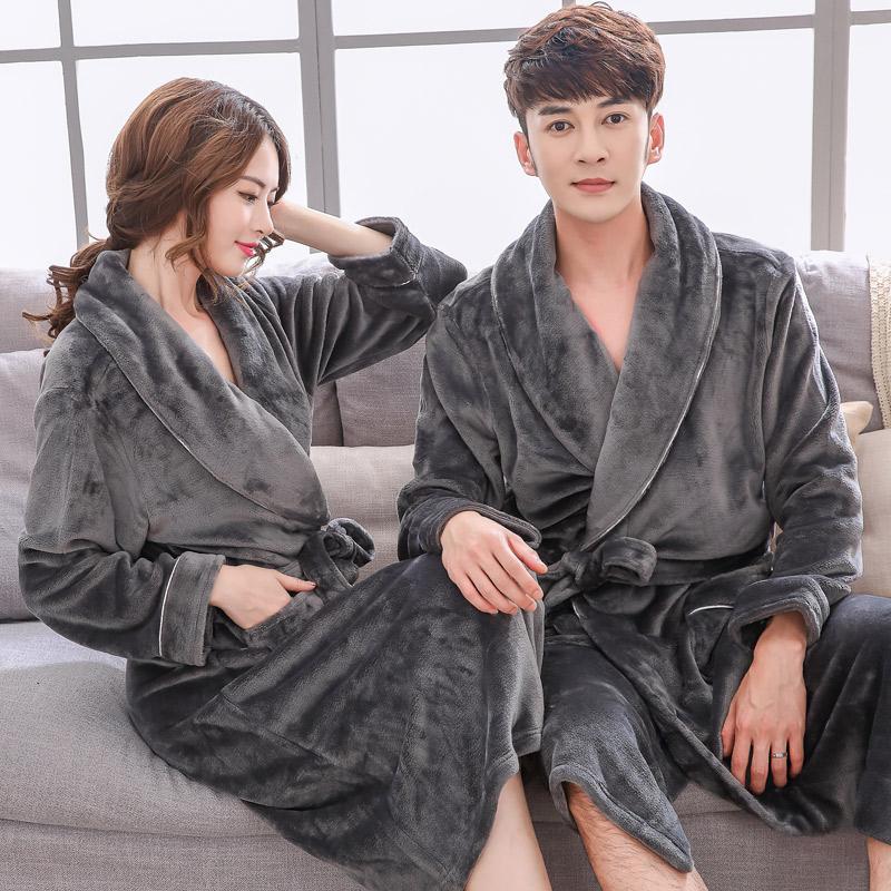 浴袍冬季加厚长款