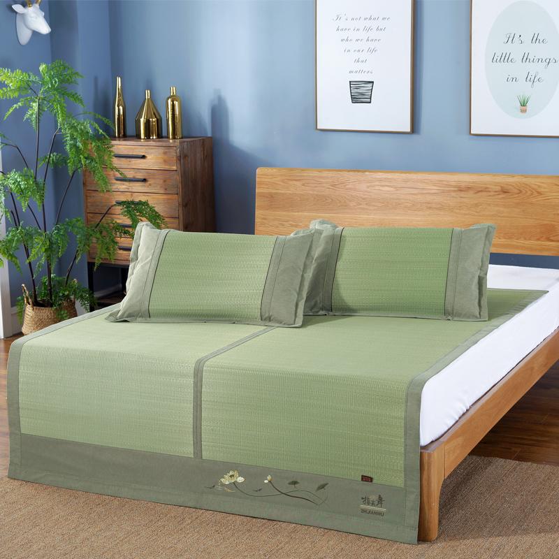 草席1.8m双人床凉席1.5m折叠三件套席子0.9米单人学生宿舍1.2席子