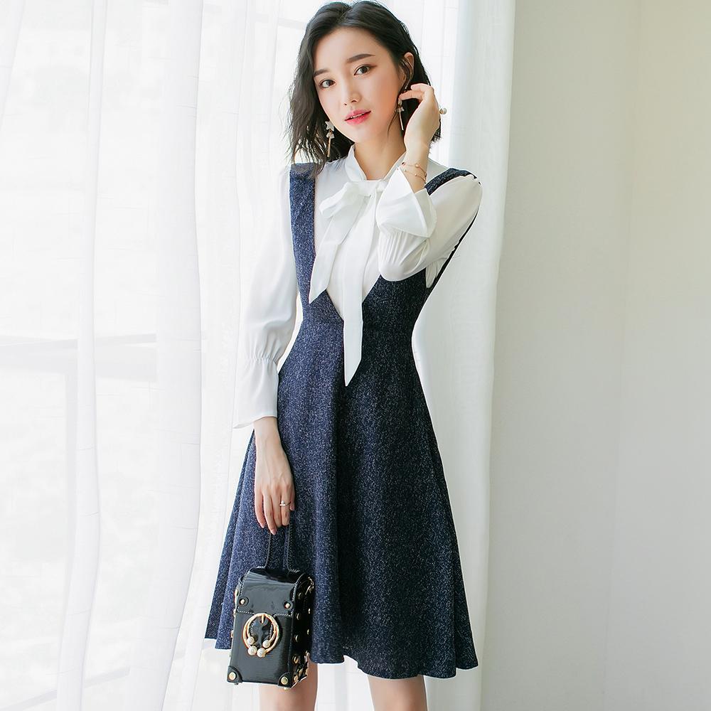 背心衬衫裙
