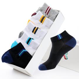 袜子男短袜夏季短筒薄款四季运动袜男士船袜防臭吸汗透气纯色棉袜图片