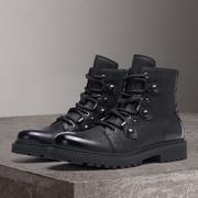 男鞋冬季潮靴机车靴男高帮鞋皮靴子加绒保暖中筒靴英伦马丁靴军靴