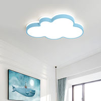Warm children's room cloud led ceiling lamp girl boy room bedroom lamp eye protection modern cartoon lamps