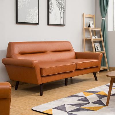 包邮北欧简约现代小户型办公室咖啡餐厅双人三人位客厅皮艺沙发厂销量排行