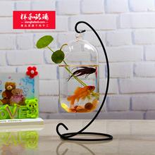 饰品摆件植物养花器送支架 创意水培花瓶桌面花盆家居微景观DIY装