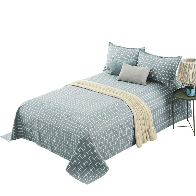 夏季老粗布凉席床单单件纯棉1.5m1.8/2米单双人床棉麻全棉三件套