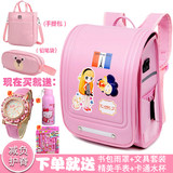 Japanese style trolley bag primary school female 1-3-5 grade waterproof burden reduction children's bag boy climb stairs three rounds 2