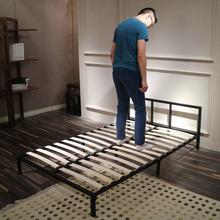 环保铁艺床1.5单人铁床双人床成人1.8米经济型简约现代出租房床架