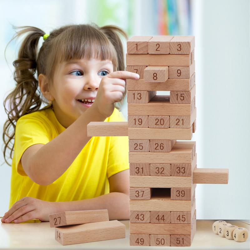 叠叠乐高抽积木成人版亲子桌游儿童益智抽抽乐木条层层叠塔积木搭