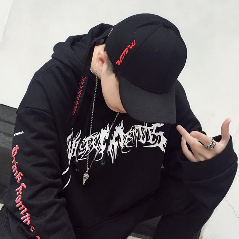 帽子男潮牌鸭舌帽男冬韩版青年学生街头帅气百搭男棒球帽潮帽少年