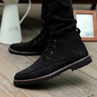 冬季男靴子加绒保暖棉鞋男士雪地靴短靴棉靴防水中帮马丁鞋男鞋子