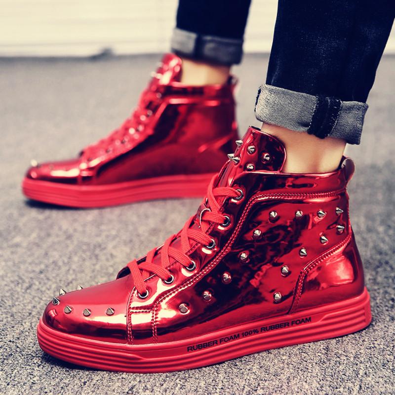 高帮鞋鞋潮柳钉