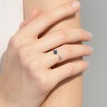 五角星戒指纯银