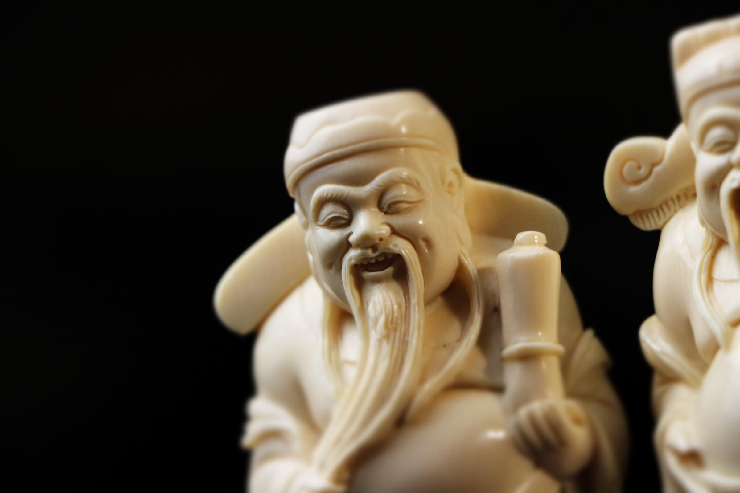 福禄寿三星牙雕 细节展示