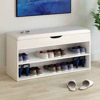 现代简约换鞋凳式鞋柜服装店沙发凳穿鞋凳进门长条凳收纳凳休息凳