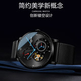 2019 new carnival men's watch men's mechanical watch tide new concept waterproof hollow through the bottom automatic trend