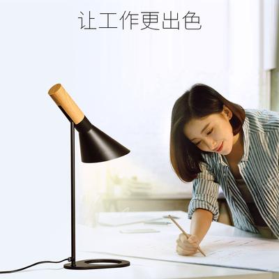 美式创意工作办公桌台灯金属吧台灯个性立式长臂灯白色旋转怀旧灯