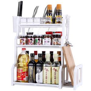 科翼双层厨房置物架调味料架子储物收纳架厨具刀架用品用具小百货