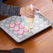 马卡龙硅胶垫曲奇垫烤盘烤箱用多功能垫长方形饼干溶豆烤垫
