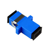 Fiber Coupler SC-SC Simplex Fiber Flange Fiber Connector Adapter Square Turning Head Carrier Grade