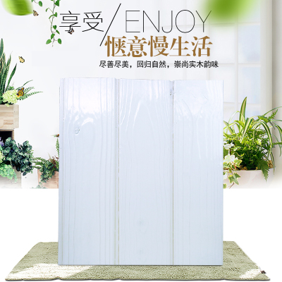 白色护墙板桑拿板免漆实木扣板欧式墙裙板材室内墙面吊顶拉丝木板
