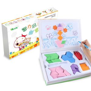 优力优磁性拼图宝宝早教玩具2-3-4-5-6岁益智七巧板智力儿童拼板