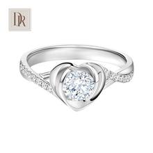 DR DarryRing求婚钻戒群镶女戒指-心蓝专柜正品钻石戒指珠宝