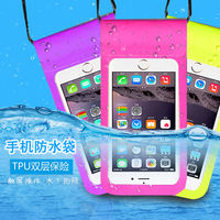 Mobile phone waterproof bag diving mobile phone sets touch screen universal swimming waterproof mobile phone shell hanging neck dust bag Apple Huawei
