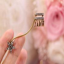 芸所品牌长短不对称设计大理石耳夹原创小众饰品气质ins耳钉耳饰
