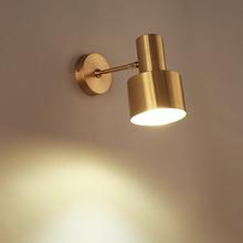 虹安北欧黄铜壁灯卫生间镜前灯床头创意个姓金属浴室全铜十字灯具
