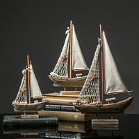 Sail sailing model decoration Nordic creative home living room wine cabinet TV cabinet room decoration furnishings